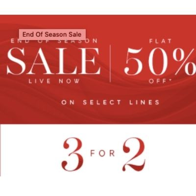 Marks and Spencer Get 3 for 2 Plus FLAT 50% discount