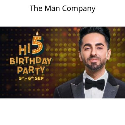 The Man Company Birthday Sale - Flat 40% Off sitewide