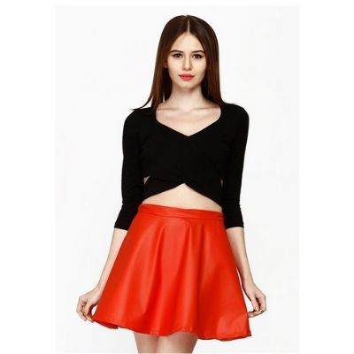 FabAlley Cutaway Crop Top at 85% Off