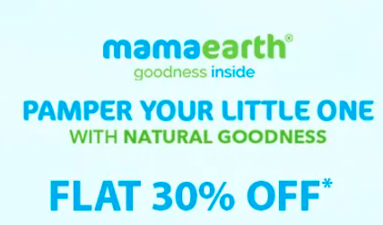 FirstCry - MamaEarth products Flat 30% Off
