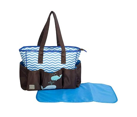 Mee Mee Multipurpose Diaper Bag (Brown Blue) Only for 501 Ru.