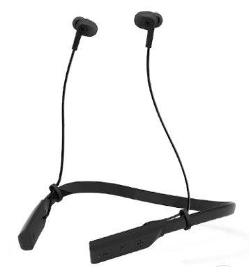 Wings Black Glide Neckband Bluetooth Wireless Earphones with Mic Only for Ru. 899/-