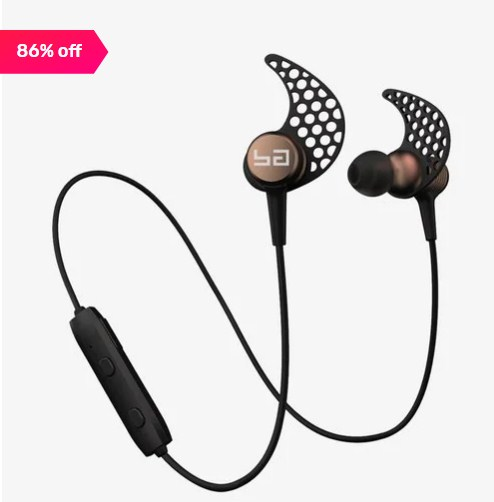 Boult Audio Probass Xplode Wireless Bluetooth Headset With Mic (Gold) Flat 86% off
