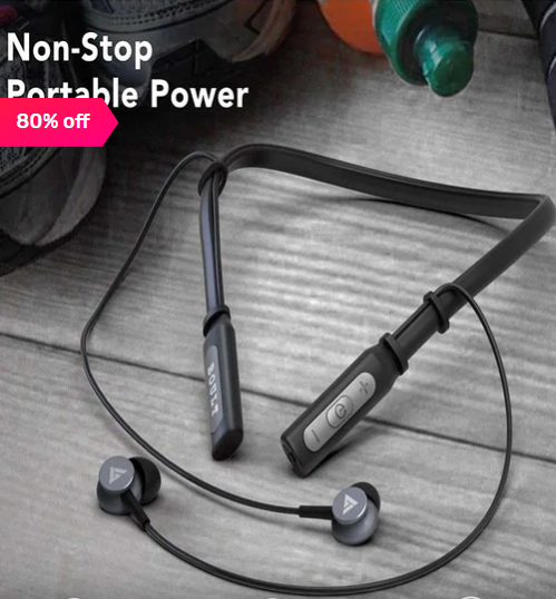 Boult Audio Probass Curve Bluetooth Wireless Neckband With Mic (Black) Flat 80% off