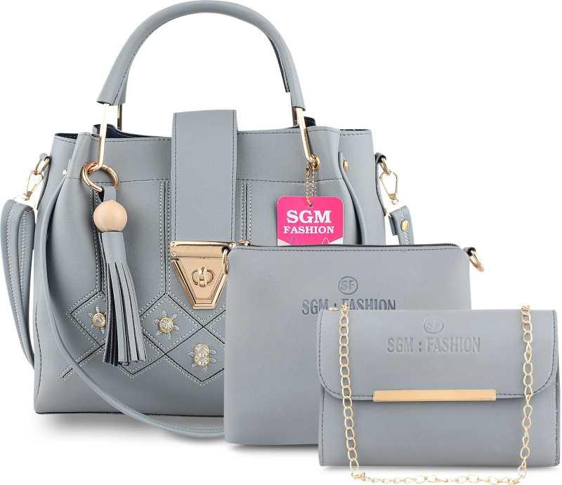 SGM Fashion  Women Grey Shoulder Bag  (Pack of: 3) @598