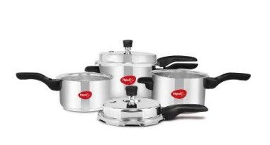 Pigeon Aluminium Pressure Cooker Combo 2, 3, 5 Litre Outer Lid Non Induction base @1499