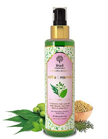 Khadi Essentials Methi Hair Oil with Neem, Tea Tree, Basil, Vitamin E For Anti Dandruf  @511