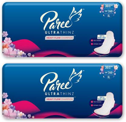 Paree Ultra Thinz 30 XL Soft Feel Sanitary Pads with Frangrance  @242
