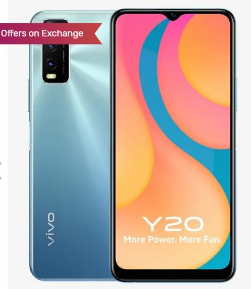 Vivo Y20 64 GB (Purist Blue) 4 GB RAM, Dual SIM 4G Only for Ru. 12990
