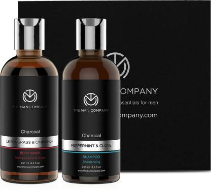 The Man Company Charcoal combo pack for men - Shampoo and body wash @657