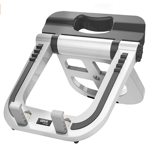 Gizga Essentials Laptop Stand - Multi Functional, Mutli Angle Portable Stand (White) @764