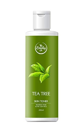 The Beauty Co. Tea Tree Toner for Acne-Free Skin, 200 ml | Alcohol Free | Cleanser | Face Toner | Made in India @360