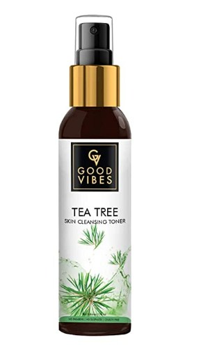 Good Vibes Tea Tree Skin Cleansing Toner - 120 ml - Cleanses Skin, Unclogs Pores & Maintains Skin pH Level @145