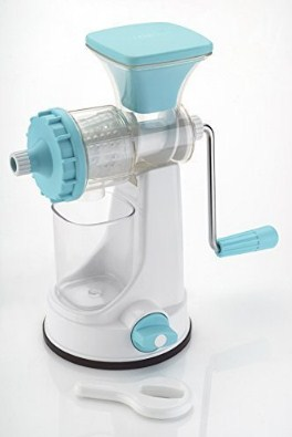 LEVERET Hand Juicer for Fruits and Vegetables with Steel Handle Vacuum Locking System,Shake @339