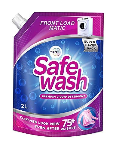 Safewash Matic Front Load Liquid Detergent by Wipro, 2L Only 292 Rs.