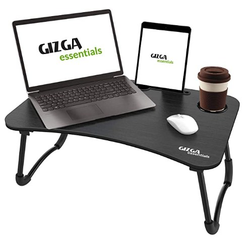 Gizga Essentials Smart Multi-Purpose Laptop Table with Dock Stand & Cup Holder| Study Table| Bed Table| Foldable @639