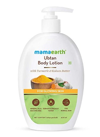 Mamaearth Ubtan Body Lotion with Turmeric & Kokum Butter for Glowing Skin – 400 ml @358