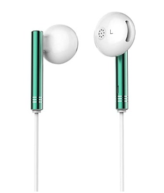 SNOKOR by Infinix Bass Drops Earphones (Green) with 14.3mm Large Bass Boost Driver Only 177 Rs.
