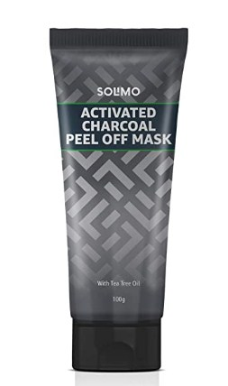 Amazon Brand - Solimo Acne Control Charcoal Peel-off Face Mask 100g @59