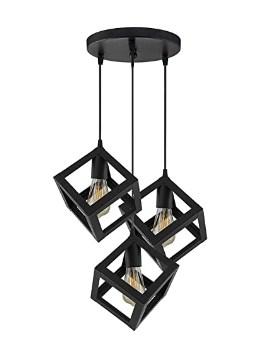 DesiDiya® 3 Lights Round Cluster Chandelier Cube Light with Braided Cord Pendant Lights @1149/-