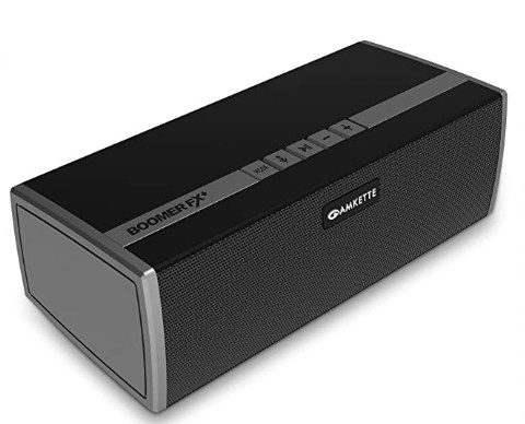 Amkette BoomerFx Plus Wireless Bluetooth Speaker, 12 Watts Output, 16+ Hours Play Time & Rich and Balanced Sound @2098