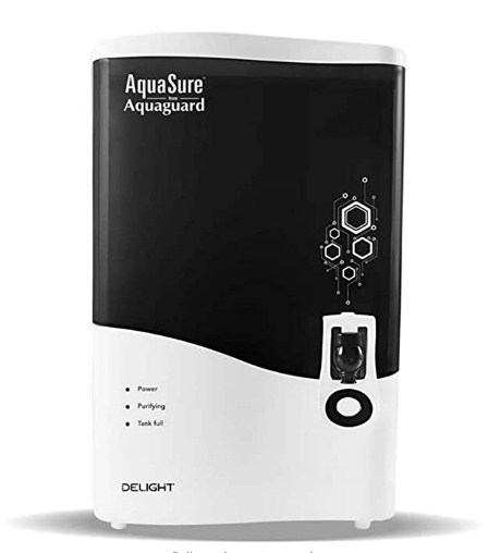 Eureka Forbes AquaSure from Aquaguard Delight (RO+UV+MTDS) 7L water purifier,6 stages of purification (White) @9,499/-