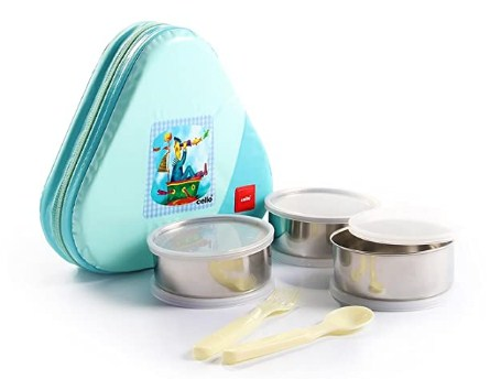 Cello Eat-N-Eat 3 Container Lunch Packs, Green @469
