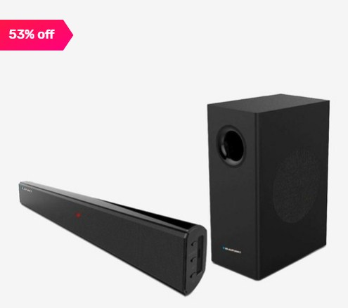 Blaupunkt SBW100T 120Watts Wired Soundbar with Subwoofer and Bluetooth Flat 53% off