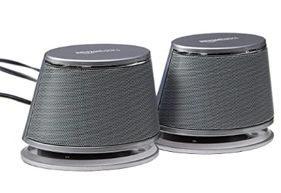 AmazonBasics USB-Powered PC Computer Speakers with Dynamic Sound | Silver @1099