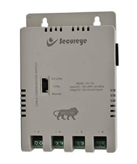 Secureye SMPS 12V 5 A Power Supply for 4Channel CCTV @540