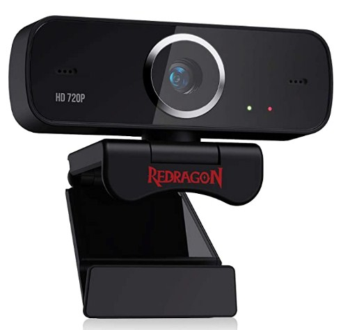 Redragon GW600 720P Webcam with Built-in Dual Microphone, 360-Degree Rotation - 2.0 USB Skype Computer Web Camera @2,290