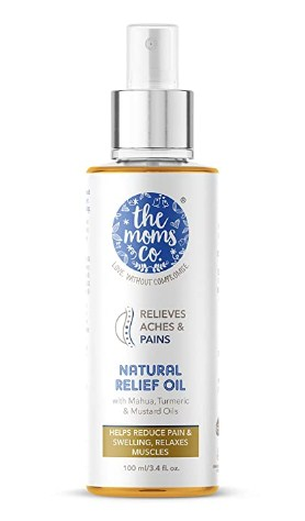 The Moms co Natural Pain Relief Oil (100 ml) @260