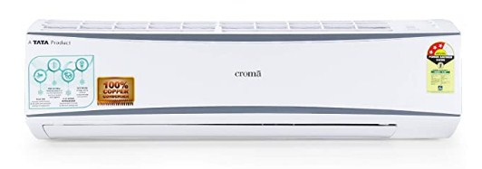 Croma 1.5 Ton 3 Star Split AC (Copper, CRAC7722, White) with Free Installation @28,990