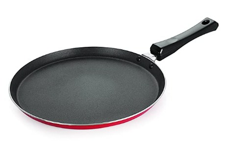 NIRLON Eco FT 550 Non-Stick Aluminium Tawa, 27.5cm, Red @296