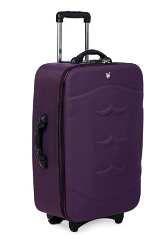 Verage Milan 59 cm Purple HD Polyester Cabin Carry On Trolley 2 Wheels Soft Sided Suitcase Luggage @999