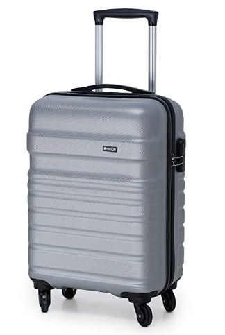 Verage Tokyo 56 cms Grey Cabin/Carry-on Trolley 4 Wheels Hard Suitcase Spinner Luggage @1,699