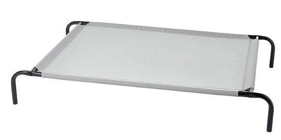 AmazonBasics Large Elevated Cooling Pet Dog Cot Bed - 51 x 31 x 8 Inches, Grey @2,369