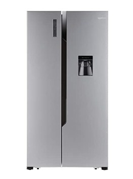 AmazonBasics 564 L Frost Free Side-by-Side Refrigerator with Water Dispenser (Silver Steel Finish) @43,225