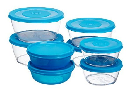 Signoraware Crystal Clear Container Set, 6-Pieces, Turkish Blue @635