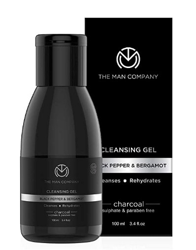 The Man Company Deep Cleansing Activated Charcoal Cleansing Gel (Black Pepper & Bergamot), 100Ml | Made in India @226