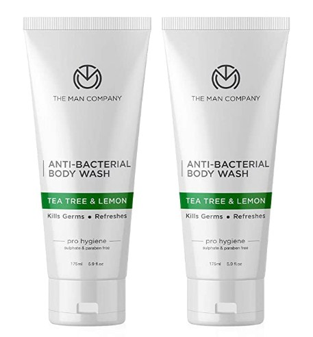 The Man Company Anti Bacterial Tea Tree and Lemon Body Wash - 175 ml each (Pack of 2) @349 Only
