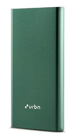URBN 10000mAh Li-Polymer 18W QC+PD Quick Charge Power Bank with 3 Amp Fast Charge @699