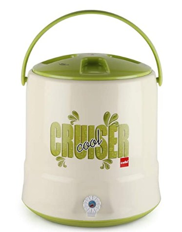 Cello Cruiser Plastic Insulated Water Jug, 10 litres, Green @518
