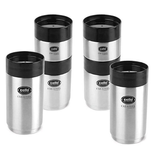 Cello Modustack Stainless Steel Container, Set of 6 @1775