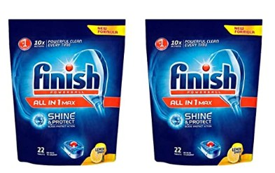 Finish Dishwasher All in One Max Powerball - 44 Tablets, Regular (2x22 Tablets) @499