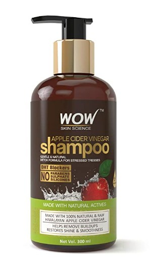 WOW Apple Cider Vinegar No Parabens & Sulphate Shampoo, 300mL @349