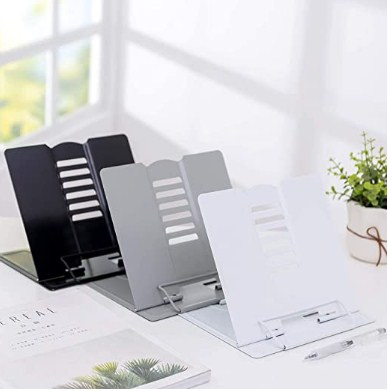 NEAR STOP Desktop Book Stand 5 Adjustable Positions Reading Foldable Tray and Page Paper Rest Standing Holder (1 Pcs) @447