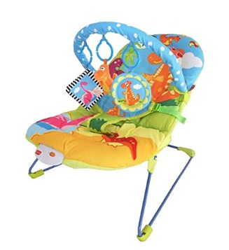 LuvLap Little Dino Baby Bouncer with Soothing Vibration and Music  @2250
