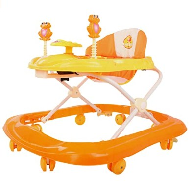 BAYBEE Smart Witty Plastic Round Baby Walker with Adjustable Height and Musical Toy Bar Rattles and Ultra Soft Seat @1,234