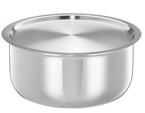 Amazon Brand - Solimo Triply Tope with Stainless Steel Lid, 24cm @1489